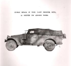 Stowage Details of M3 Scout Car modified for Airborne use, AFDC, 1945.