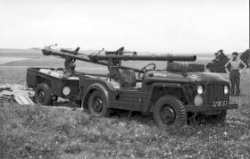 106mm Recoilless Anti-Tank Rifle mounted on a Austin Champ, AATDC trials, 1959.