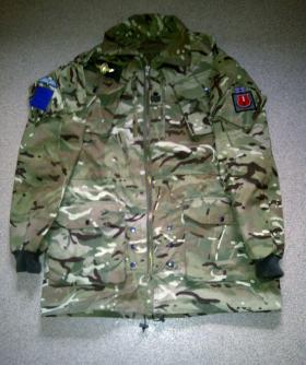 Standard issue Multi-Terrain Pattern (MTP) smock converted into a Para smock, 2012.