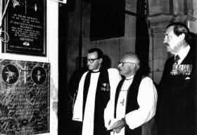 Maj Gen J D  Frost at Stoke Rochford Church, c1970/80s.