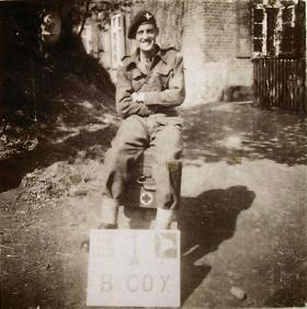 Major 'Tiger' Reid, Officer Commanding B Coy, 7th (LI) Para Bn c1945