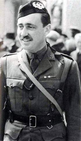 Maj J Frost MC at Buckingham Palace, 1942.