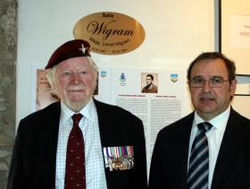 Maj Hargreaves MC visiting The Maj Wigram Hall, Casoli, March 2013.