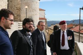 Major Hargreaves MC recalls his arrival in Casoli on 6 Dec 1943, Italy, March 2013.