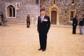 Major John Stevenson attending the DCM League Muster at Windsor Castle, September 1985