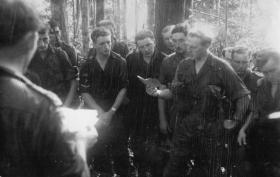 Prayers in the jungle - members of 16 Lincoln Coy, Annual Camp Malaya, 1962