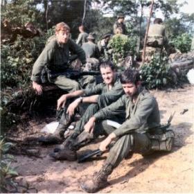 Jim Heycock, Laurie Hamilton and Joe Farrell, Malaya, early 1970s.