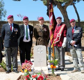 New headstone of Pte Alan Walton, Pembroke Cemetery, Malta 12 April 2013.