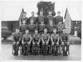 Junior Parachute Company, Drums Platoon, new intake, Malta Barracks, January 1967.
