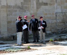 Initial briefing, Dedication Ceremony of Pte Walton's new headstone  Pembroke Cemetery, Malta, 12 April 2013.