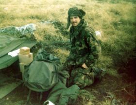 Pte Marck Fletcher, Falklands, 1982.