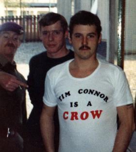 Rick Cross, Paul Mort and Mark Fletcher, Aldershot, 1981.