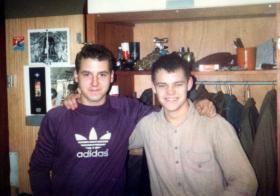 Mark Fletcher and Unknown, Aldershot, 1981.