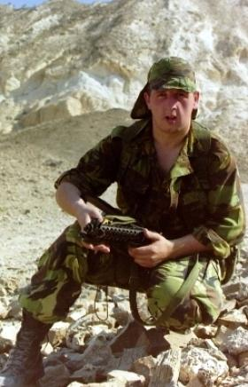 Private Mark Herbert, Oman, 1986.
