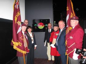 Unveiling of the Hamminkeln Friendship Flag, Airborne Assault, Duxford, 2011