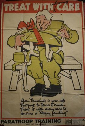 Poster about taking care of your parachute