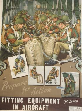 Poster of fitting equipment in Valetta aircraft