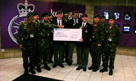 Members of Central Scotland Branch PRA presenting a cheque to the Gurkhas, 2010.
