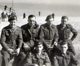Members of 4th/6th Parachute Battalion, Timmendorf Beach, Germany, c1948.