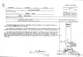 Dutch Bronze Lion Citation for L/Sgt McRae 4 Para Bde HQ Defence Platoon, 1947.