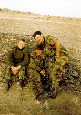 Greg Allen, Mick O'Connell and Tony McCann, 1 PARA, Oman, 1982.