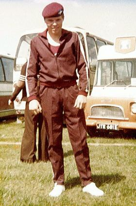 Greg Allen, Junior Parachute Company Gym Team, 1976.