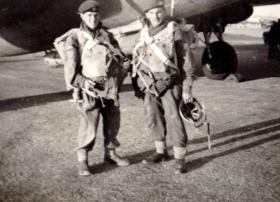 Pte George Wake and Pte Jerry Hudswell, I Para Bn c1951.