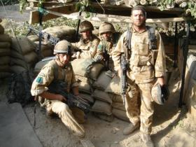 Pte 'Eddie' Edwards and the lads in Sangin, Afghanistan, 2006