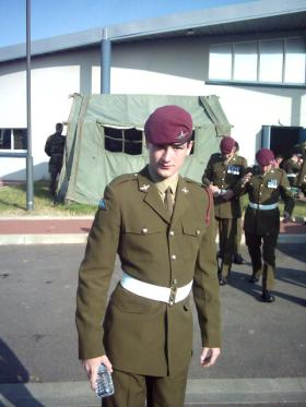Pte David Allen at the Normandy 60th anniversary, 2004