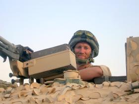 Pte Terry Youell on top cover, Herrick VIII. 2008.