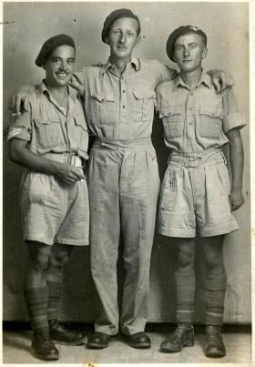 Cpl Cecil Meadows and two pals, date unknown.