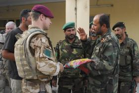3 PARA soldier meeting with the Afghan National Army, Kandahar, Afghanistan, June 2008