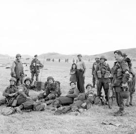 Members of 2 Para Brigade rest at Megara, 14 October 1944.