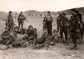 Operation Manna - Brigade Signals having a rest - Megara Airfield - 12th Oct 1944