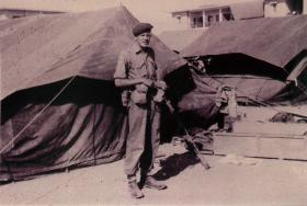 Member of 2 PARA 'C' Company, Amman Airfield, Jordan, 1958