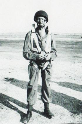 Member of 9 Airborne Sqn RE in Palestine, 1947