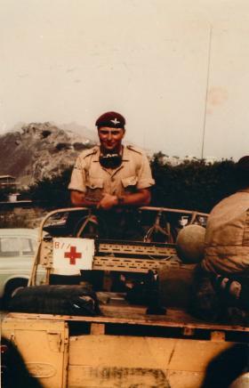 Member of B Company, 1 PARA, Aden, 1967