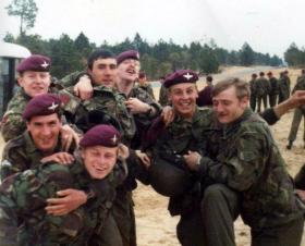 Members of 1 PARA and 4 PARA after gaining their American Jump Wings.
