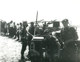 Members of 1 PARA by jeep, Aden 1967