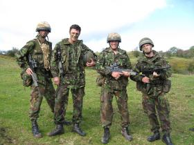 Members of 1 PARA on pre-deployment training for Iraq, 2007