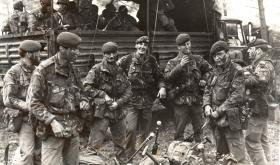 Members of 2 PARA on exercise in Germany, 1978