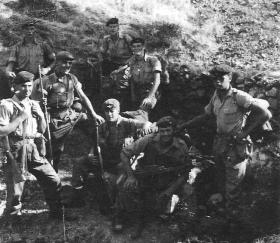 Members of 2 PARA take a break on patrol in Cyprus, c.1956-7
