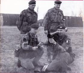 Four CSMs of the newly formed 4th Volunteer Battalion, 1967.