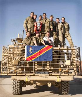 Members of 7 Air Assault REME, with the FA Cup, Afghanistan, 2011