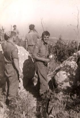 Members of C Coy, 2 PARA in the Kyrenia Mountains, Cyprus, 1958.