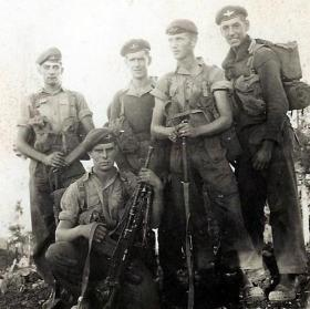 Members of No 1 (Guards) Independent Parachute Company, Troodos Mountains, Cyprus, c1956.