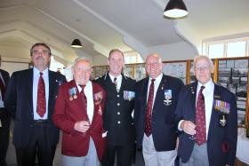 Members of the PRA with the Chief Constable of Humberside, Airborne Forces Day, Eden Camp, 2010
