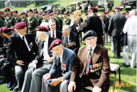 Veterans of Operation Biting, Bruneval, 1992.