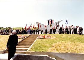 Standard Bearers at the Bruneval Memorial, June, 1982.