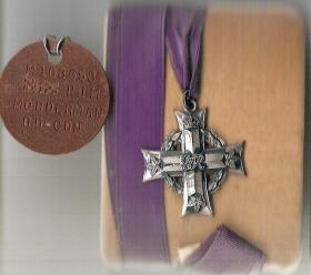 Canadian Memorial Cross and Dog Tag for Sgt PJM Modderman sent to his wife Beth, date unknown.